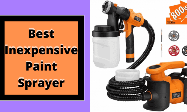 5 Best Inexpensive Paint Sprayer FOR 2021 [ULTIMATE GUIDE]